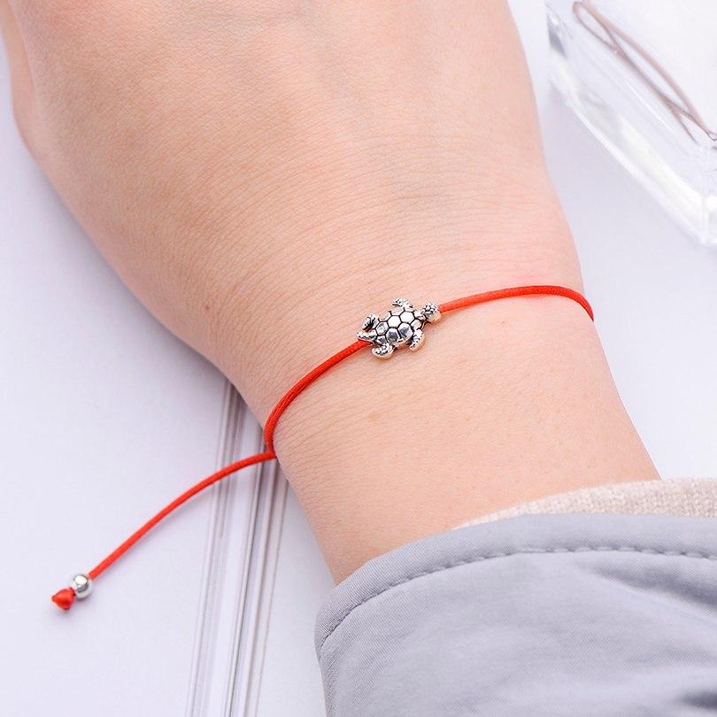 Sea Turtle Charm String Bracelet